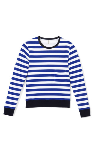 Medium golden goose blue lan sweater with stripes