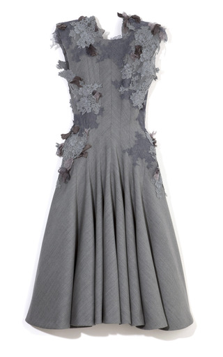 Square Shoulder Sleeveless Dress by THOM BROWNE for Preorder on Moda Operandi