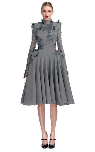 Medium thom browne dark grey square shoulder sleeveless dress 3