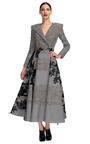 Square Shoulder Coat Dress With Circle Skirt by THOM BROWNE for Preorder on Moda Operandi