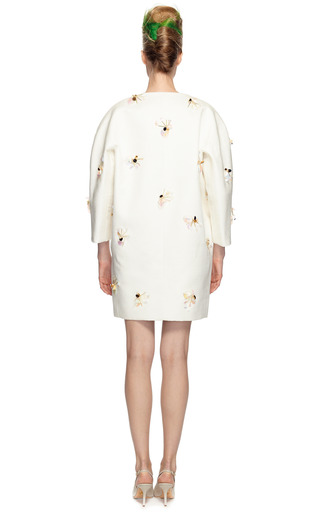 Beaded Collarless Coat by DELPOZO Now Available on Moda Operandi