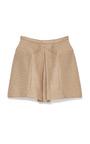 Raffia Pyramid Mini Skirt by DELPOZO Now Available on Moda Operandi