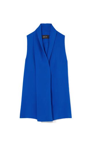 Medium derek lam blue sapphire draped sleeveless blouse
