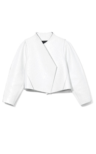 Medium proenza schouler white ostrich asymmetric jacket