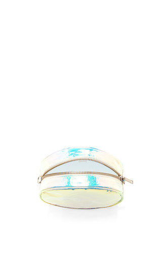 Blue Glossy Bag With Long Strap by ZILLA Now Available on Moda Operandi