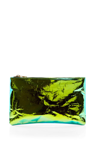 Medium zilla green green small glossy purse