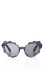 Flower Cat Eye Sunglasses In Blue Indigo Pearl by OPENING CEREMONY Now Available on Moda Operandi