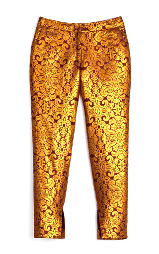 Damask Brocade Skinny Pant by WES GORDON for Preorder on Moda Operandi