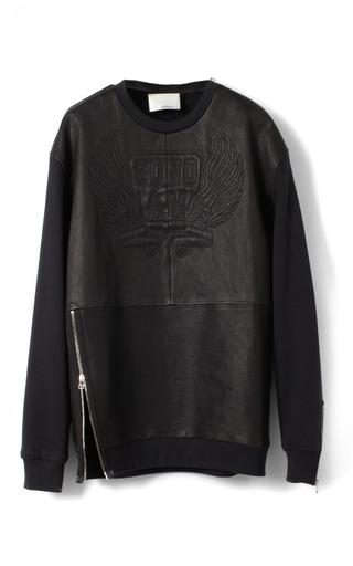 Medium 3 1 phillip lim black stretch nappa leather oversized sonomama quilted sweatshirt 2
