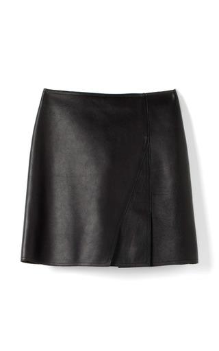 Medium 3 1 phillip lim black nappalan finished light calf layered mini skirt 4