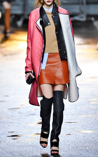 Nappalan Finished Light Calf Layered Mini Skirt by 3.1 PHILLIP LIM for Preorder on Moda Operandi