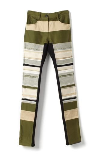 Medium 3 1 phillip lim green broken satin patchwork patchwork skinny jean