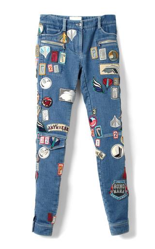 Medium 3 1 phillip lim blue stretch denim skinny patchwork cargo jean