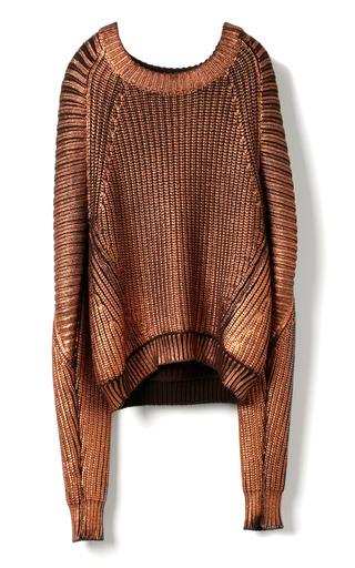Medium 3 1 phillip lim metallic metallic printed sweater pullover