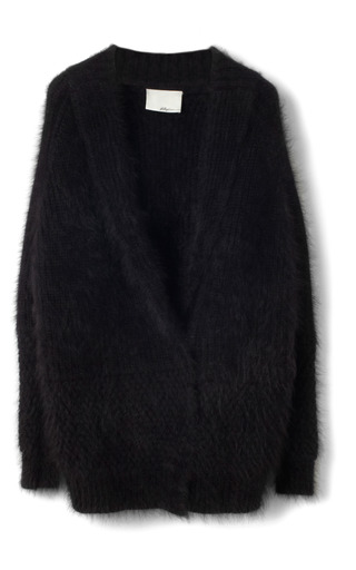 Fuzzy Angora Sweater Shawl Collar Cardigan by 3.1 PHILLIP LIM for Preorder on Moda Operandi