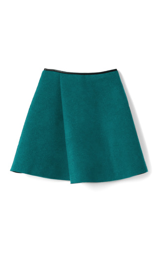 Medium 3 1 phillip lim wool faced techno coating sculpted flare skirt