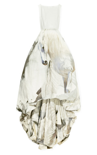 Medium giles white leather and pegasus gown