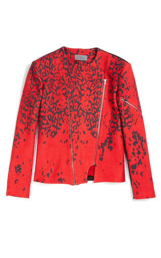 Medium preen print roxy jacket with leather back