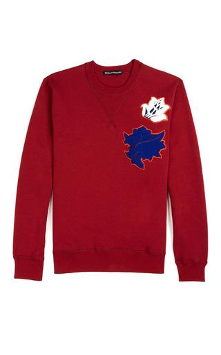 Medium ostwald helgason burgundy leaf sweatshirt