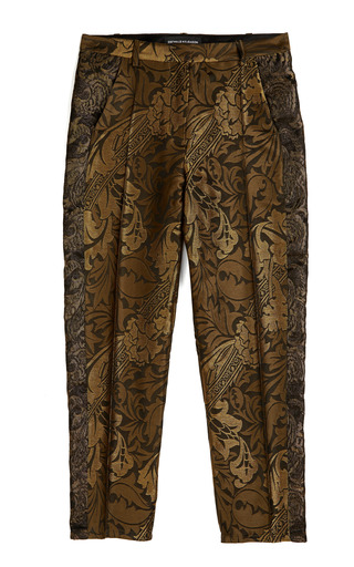 Medium ostwald helgason black cropped trousers contrast panel inset