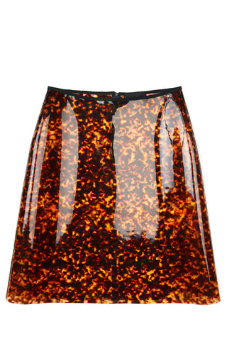 leopard pvc a line skirt by rocha moda operandi