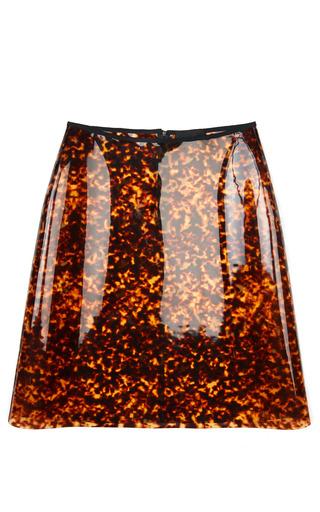 Medium simone rocha print leopard pvc a line skirt