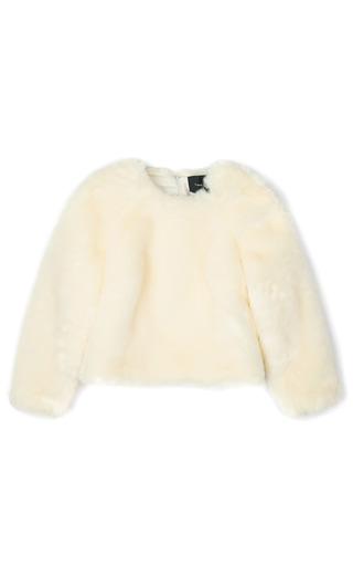 Medium simone rocha off white faux fur jumper in cream