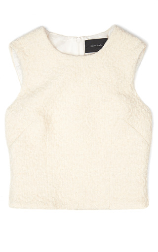 Medium simone rocha off white tweed sparkle sleeveless top