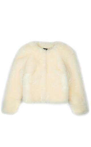 Medium simone rocha off white faux fur cardigan