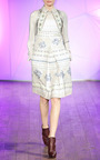 Floral Folk Weave Embroidered A Line Dress by MATTHEW WILLIAMSON for Preorder on Moda Operandi