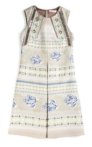 Medium matthew williamson floral folk weave embroidered a line dress