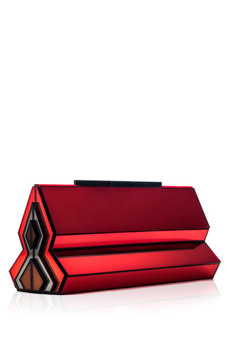Medium rauwolf dark grey blood shalimar clutch