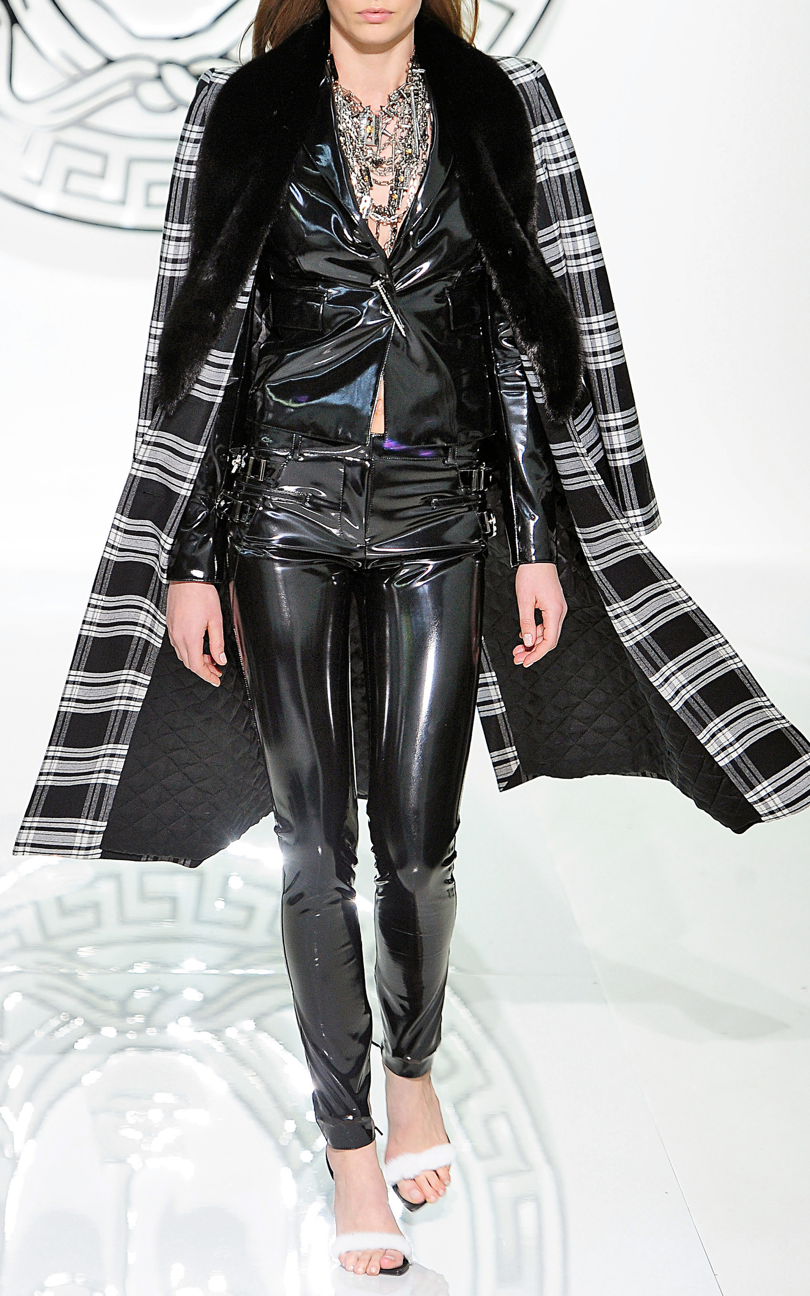 Japanese Vinyl Pants By Versace Moda Operandi