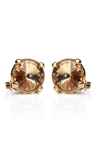 Medium house of lavande gold zelda stud earrings