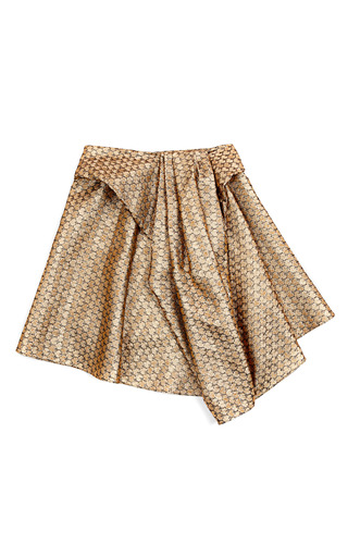 Medium kenzo black gold petals jacquard skirt