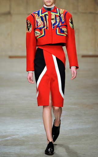 Scarlet Cropped Jacket by PETER PILOTTO for Preorder on Moda Operandi