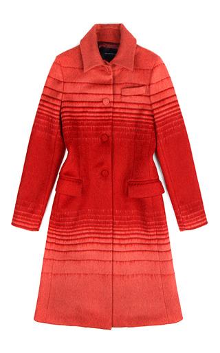 Medium jonathan saunders stripe athena wool jacquard coat in red stripe