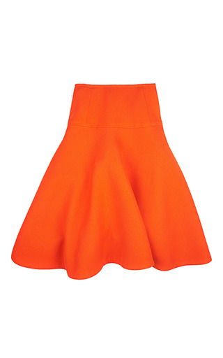 Medium jonathan saunders orange marie doubleface wool circle skirt in orange