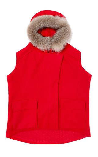 Medium nina ricci red wool parka