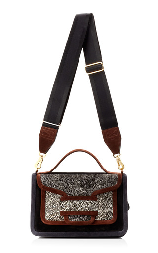 Medium pierre hardy brown multi colored suede shoulder bag