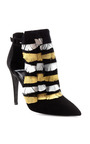 Black And Gold Bootie With Feather Detail by PIERRE HARDY for Preorder on Moda Operandi