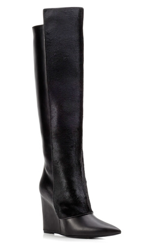 Medium pierre hardy black black calf over the knee boot
