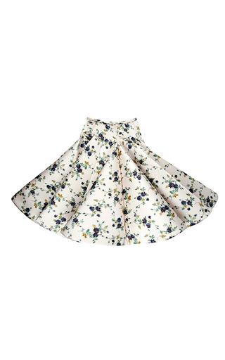 Medium rochas pink floral duchesse chine circle skirt