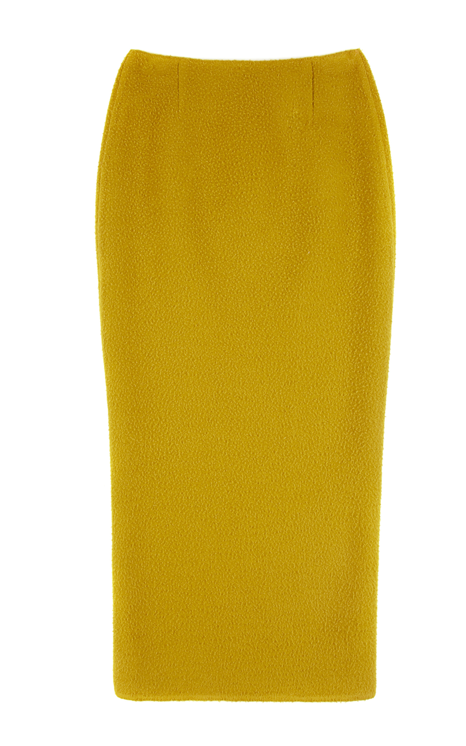 casentino wool pencil skirt in lime green by rochas moda