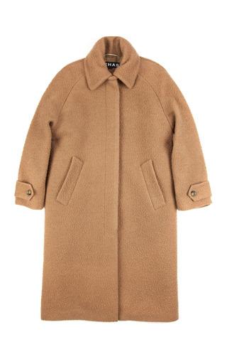 Medium rochas brown oversize casentino angora coat in camel