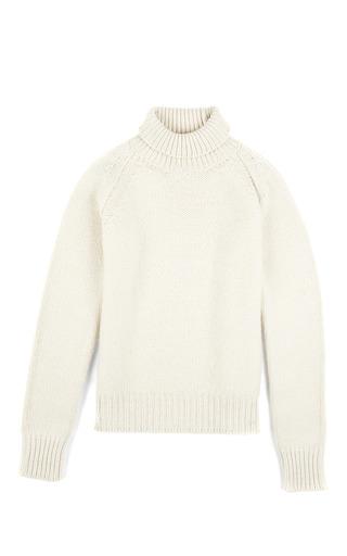 Medium rochas white cashmere turtleneck in off white