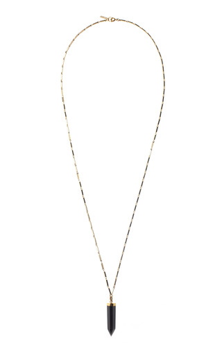 Medium isabel marant black black prism necklace