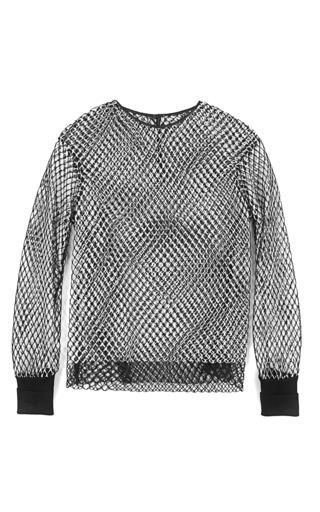 Medium dion lee white moire sweater
