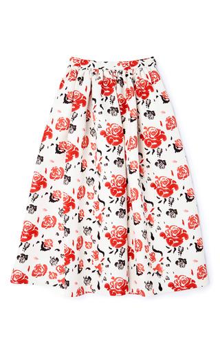 Medium msgm pink ottoman rose skirt