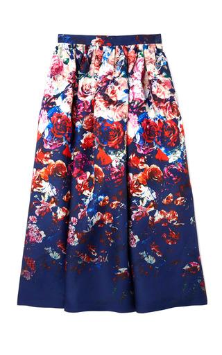 Medium msgm floral floral stamped gazar skirt